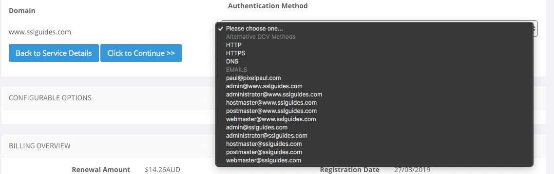 SSL Validate Domain